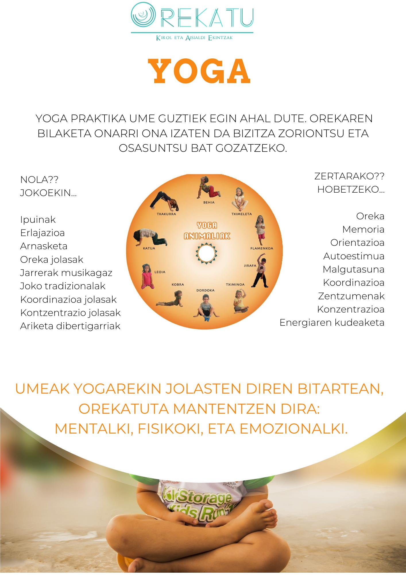yoga para niños, niñas y jovenes